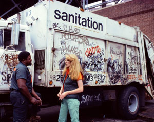 Mierle Laderman Ukeles's Touch Sanitation Performance (photo by Robin Holland, Ronald Feldman Fine Arts, 1979–1980)