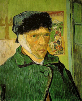 Vincent van Gogh's Self-Portrait with Bandaged Ear (Courtauld Institute Galleries, 1889)
