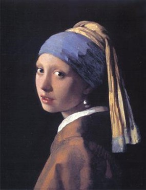 Jan Vermeer's Girl with a Pearl Earring (Mauritshuis, The Hague, c. 1660-1665)