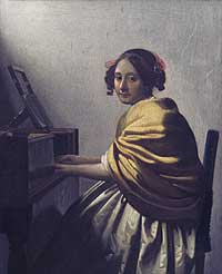 Young Woman at the Virginals attributed to Jan Vermeer (private collection, c. 1671)
