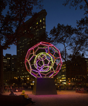 Leo Villareal's BUCKYBALL (Madison Square Park Conservancy, 2012)