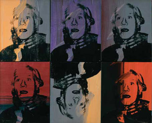 Andy Warhol's Self-Portrait (Strangulation) (collection of Anthony d'Offay, photo by Andy Warhol Foundation/ARS, 1978)