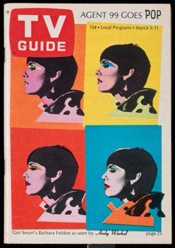 Andy Warhol's Get Smart cover for TV Guide (Jewish Museum, 1966)