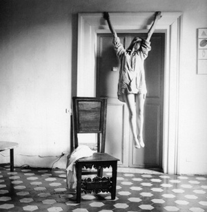 Francesca Woodman's Untitled (Angel) (George and Betty Woodman/Solomon R. Guggenheim Museum, 1977)