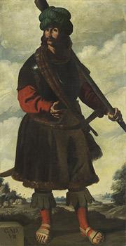 Francisco de Zurbarán's Gad (Auckland Castle, c. 1440–1445)